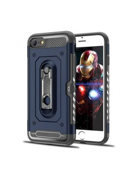 3 in 1 Design Hybrid Heavy Duty Armor TPU Plastic Phones Case for iPhone With Card Holder Slot