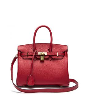 Women Classic Cowhide Top-handle Tote Bag