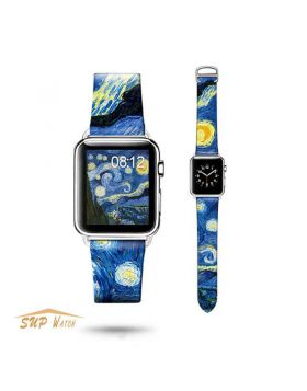 Art Design Leather Watch Bands For Apple Watch Series 5 4 3 2 1