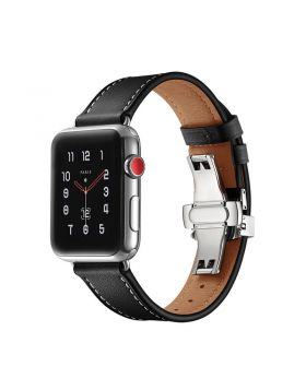 Black Single Tour Apple Watch Leather Bands Series 5/4/3/2/1