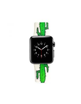 Cactus Print Apple Watch Silicone Sport Band Series 5 4 3 2 1