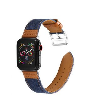 Canvas Leather Stitching Apple Watch Bands Series 5 4 3 2 1