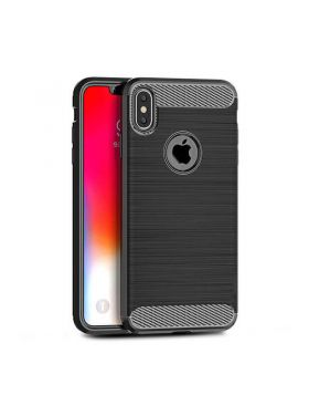 Carbon Fiber Texture Back Cover Cases For iPhone XS Max & XS & XR