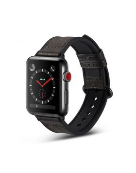 Genuine Leather+Silicone Sport Apple Watch Bands