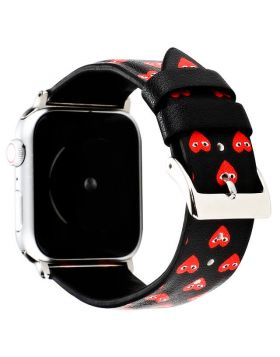 Love Face Print Apple Watch Leather Bands Series 5/4/3/2/1