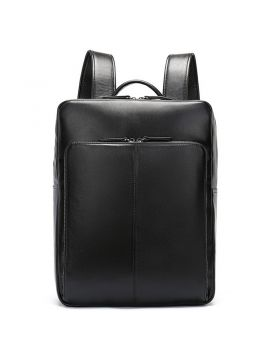 Men's Fashionable Large Capacity Leather Backpack