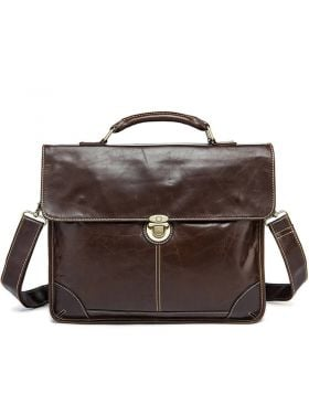 Men's Fashionable Leather Business Briefcase