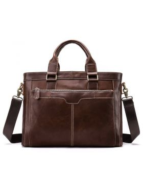 Men's Trend Leather Business Briefcase