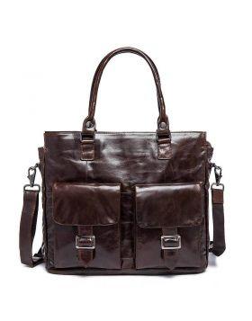 Men's Vintage Design Leather Business Briefcase