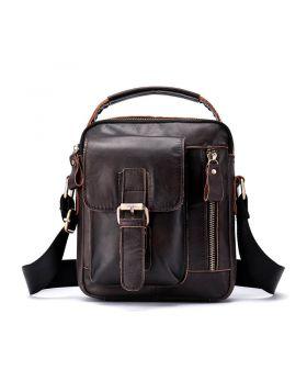 Men's Vintage Leather Large Capacity Messenger Bag
