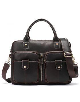 Men's Vintage Locomotive Leather Briefcase Bag