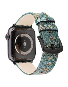 Python-embossed Apple Watch Leather Bands Series 5/4/3/2/1