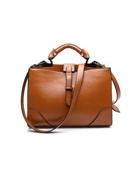 New Women Brown  Genuine Leather Tote Handbag