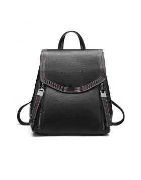 Women's Fashionable Trend Leather Travel Backpack