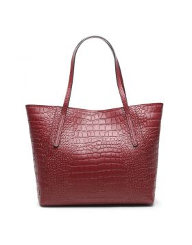 Women's Genuine Leather Large-capacity Top-Handle Bag